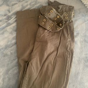Green trouser pants with belt! Good for Xmas!!